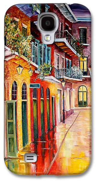 Night Lamp Paintings Galaxy S4 Cases - Pirates Alley by Night Galaxy S4 Case by Diane Millsap