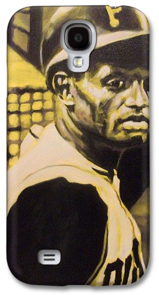 Roberto Clemente Paintings Galaxy S4 Cases - Pirates Gold Galaxy S4 Case by Paul Smutylo