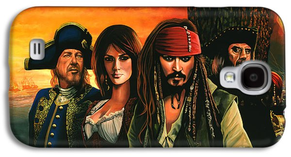 At Work Galaxy S4 Cases - Pirates of the caribbean  Galaxy S4 Case by Paul  Meijering