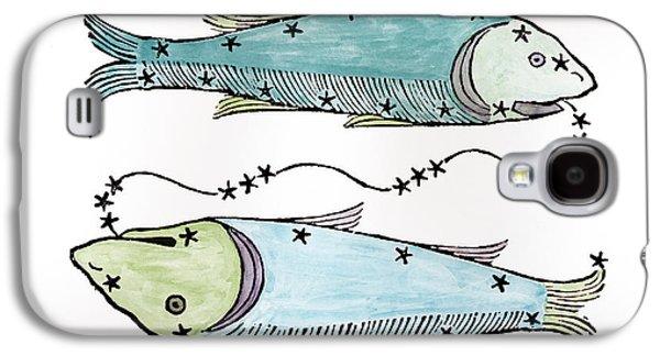 Pisces An Illustration Galaxy S4 Case by Italian School