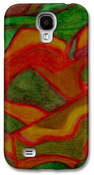 Nature Abstract Pastels Galaxy S4 Cases - Pisces Galaxy S4 Case by Carla Sa Fernandes