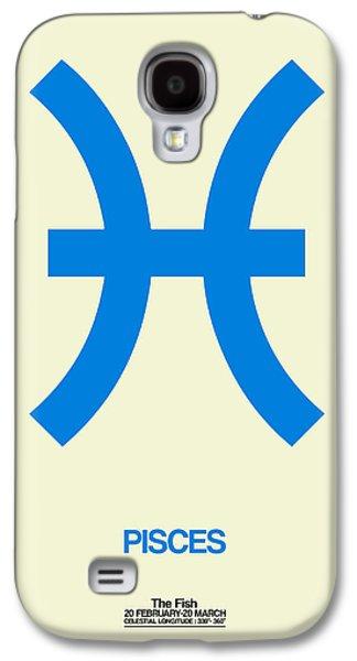 Virgo Galaxy S4 Cases - Pisces Zodiac Sign Blue Galaxy S4 Case by Naxart Studio