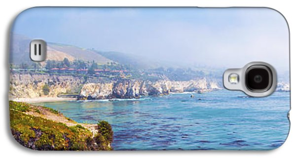 Waterscape Galaxy S4 Cases - Pismo Beach Through The Fog Panorama Galaxy S4 Case by Barbara Snyder