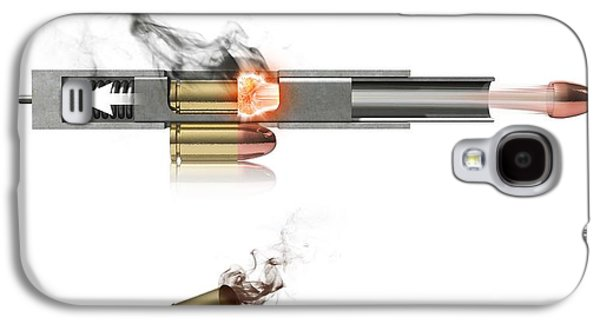 Mechanism Galaxy S4 Cases - Pistol Firing Mechanism, Artwork Galaxy S4 Case by Claus Lunau