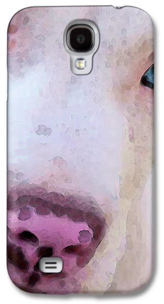 Pit Bull Art - Not A Fighter Galaxy S4 Case by Sharon Cummings