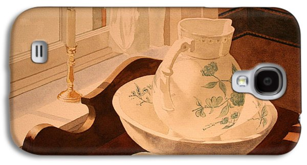 Old Pitcher Paintings Galaxy S4 Cases - Pitcher and the Bowl Galaxy S4 Case by Jim Gerkin