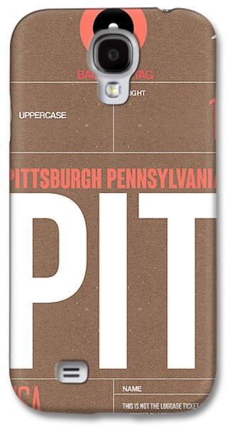 Pittsburgh Galaxy S4 Cases - Pittsburgh Airport Poster 2 Galaxy S4 Case by Naxart Studio