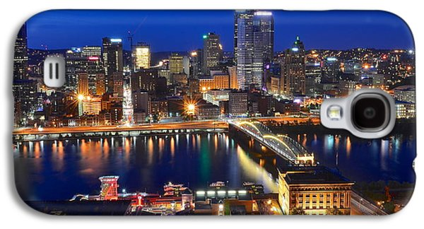 Pittsburgh Blue Hour Panorama Galaxy S4 Case by Frozen in Time Fine Art Photography