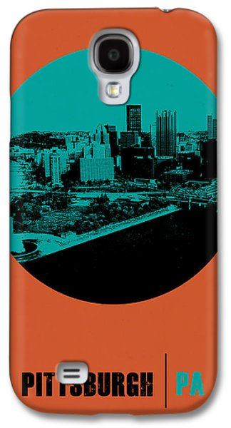 Pittsburgh Galaxy S4 Cases - Pittsburgh Circle Poster 1 Galaxy S4 Case by Naxart Studio