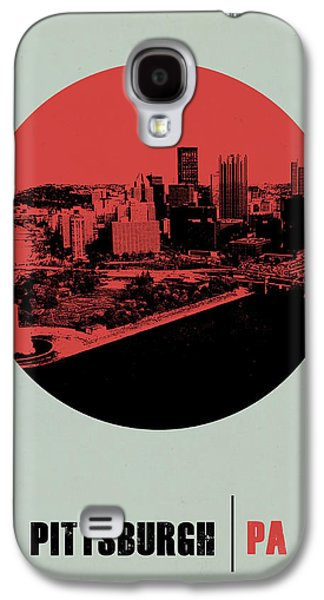 Pittsburgh Galaxy S4 Cases - Pittsburgh Circle Poster 2 Galaxy S4 Case by Naxart Studio