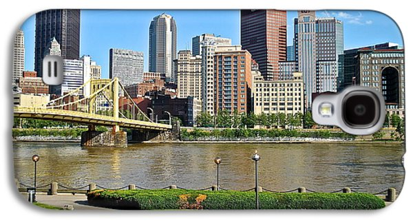Pennsylvania Baseball Parks Galaxy S4 Cases - Pittsburgh from the Park Galaxy S4 Case by Frozen in Time Fine Art Photography