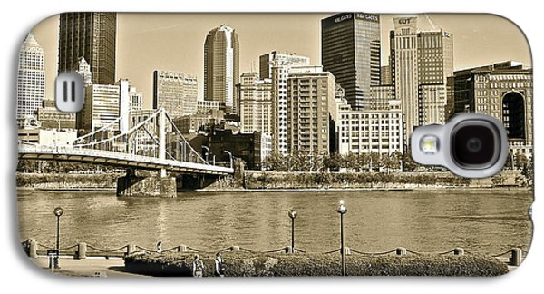 Quaker Galaxy S4 Cases - Pittsburgh in Sepia Galaxy S4 Case by Frozen in Time Fine Art Photography
