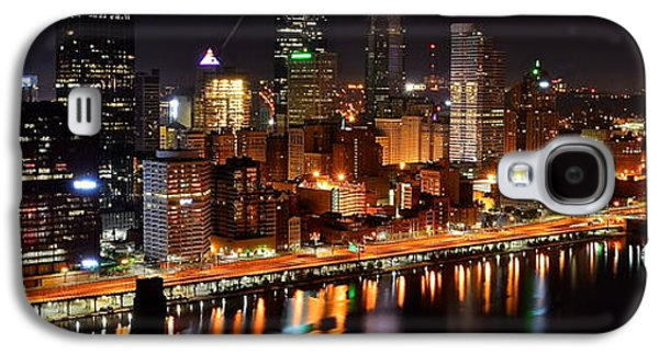 Pennsylvania Baseball Parks Galaxy S4 Cases - Pittsburgh Panorama Galaxy S4 Case by Frozen in Time Fine Art Photography