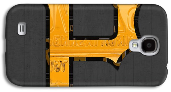Pittsburgh Galaxy S4 Cases - Pittsburgh Pirates Baseball Vintage Logo License Plate Art Galaxy S4 Case by Design Turnpike