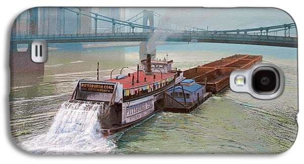 Pittsburgh Galaxy S4 Cases - Pittsburgh River Boat-1948 Galaxy S4 Case by Paul Krapf
