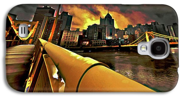 City Digital Art Galaxy S4 Cases - Pittsburgh Skyline Galaxy S4 Case by  Fli Art