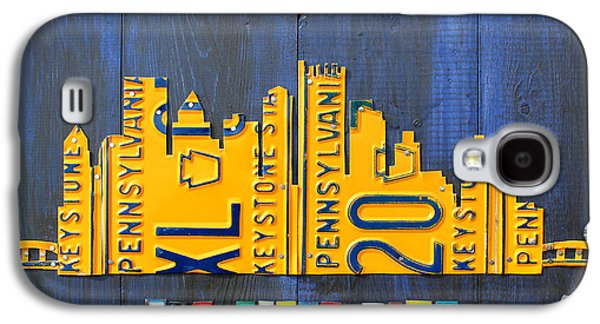Pittsburgh Skyline License Plate Art Galaxy S4 Case by Design Turnpike
