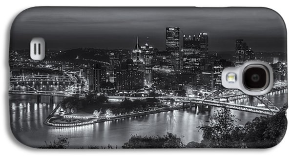 Roberto Clemente Galaxy S4 Cases - Pittsburgh Skyline Morning Twilight II Galaxy S4 Case by Clarence Holmes