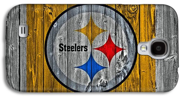 Champion Mixed Media Galaxy S4 Cases - Pittsburgh Steelers Barn Door Galaxy S4 Case by Dan Sproul