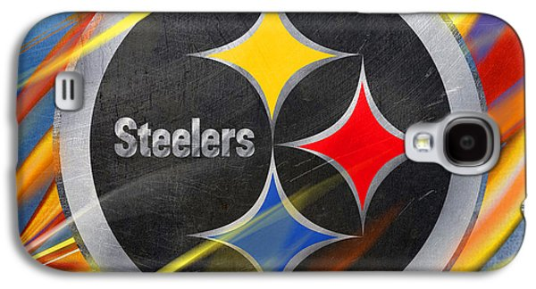 Champion Mixed Media Galaxy S4 Cases - Pittsburgh Steelers Football Galaxy S4 Case by Tony Rubino