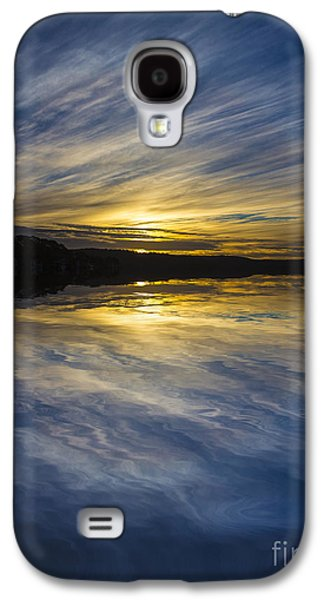 Sunset Abstract Galaxy S4 Cases - Pittwater sunset abstract Galaxy S4 Case by Sheila Smart