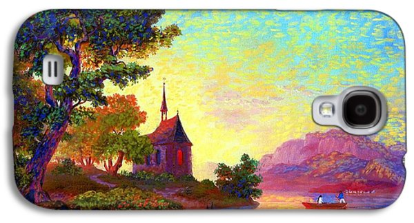 Canoe Galaxy S4 Cases - Place of Welcome Galaxy S4 Case by Jane Small