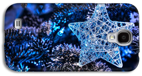 Star Of Bethlehem Galaxy S4 Cases - Blue Christmas Galaxy S4 Case by Shelley Neff