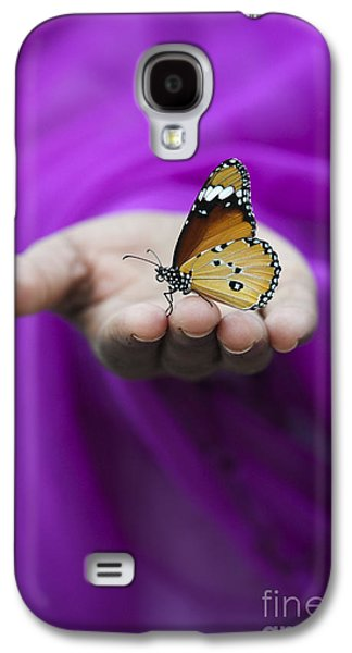 Shawl Galaxy S4 Cases - Plain Tiger Butterfly Galaxy S4 Case by Tim Gainey