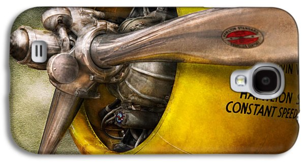 Mechanics Photographs Galaxy S4 Cases - Plane - Pilot - Prop - Twin Wasp Galaxy S4 Case by Mike Savad