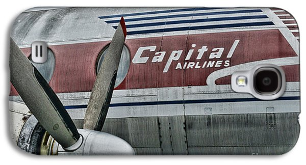 Plane Vintage Capital Airlines Galaxy S4 Case by Paul Ward
