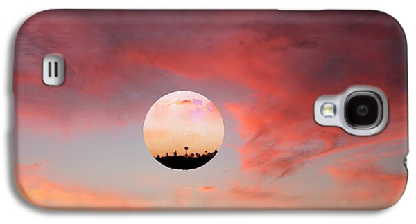 Amazing Sunset Galaxy S4 Cases - Planet and Sunset Galaxy S4 Case by Augusta Stylianou