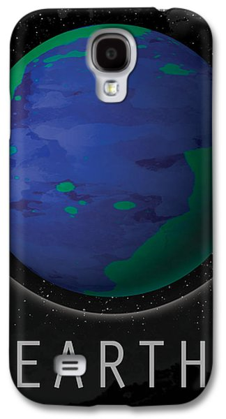 Abstract Digital Art Galaxy S4 Cases - Planet Earth Galaxy S4 Case by David Cowan