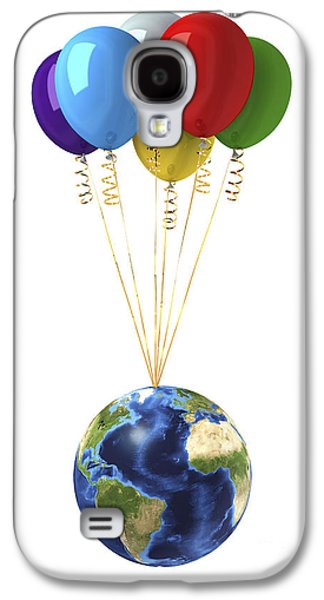 Freedom Party Galaxy S4 Cases - Planet Earth Lifted By A Bunch Galaxy S4 Case by Leonello Calvetti