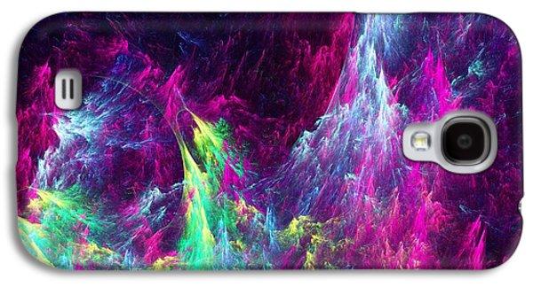 Waves Digital Art Galaxy S4 Cases - Planet Ocean Galaxy S4 Case by Anastasiya Malakhova