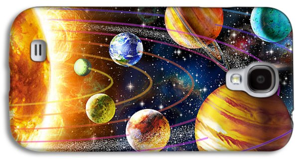 Planet Galaxy S4 Cases - Planetary System Galaxy S4 Case by Adrian Chesterman