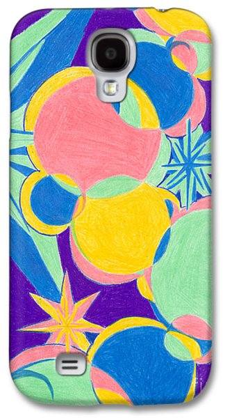 Kim Drawings Galaxy S4 Cases - Planets and Stars Galaxy S4 Case by Kim Sy Ok
