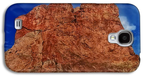 Landscape Posters Galaxy S4 Cases - Plateau Rock Formation Galaxy S4 Case by Chris Flees