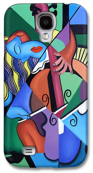 Posters On Digital Galaxy S4 Cases - Play Me Galaxy S4 Case by Anthony Falbo