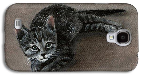 Recently Sold -  - Drawing Galaxy S4 Cases - Playful Kitten Galaxy S4 Case by Anastasiya Malakhova