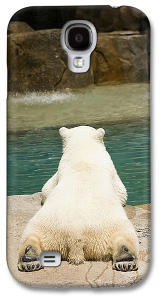 Nature Study Photographs Galaxy S4 Cases - Playful Polar Bear Galaxy S4 Case by Adam Romanowicz