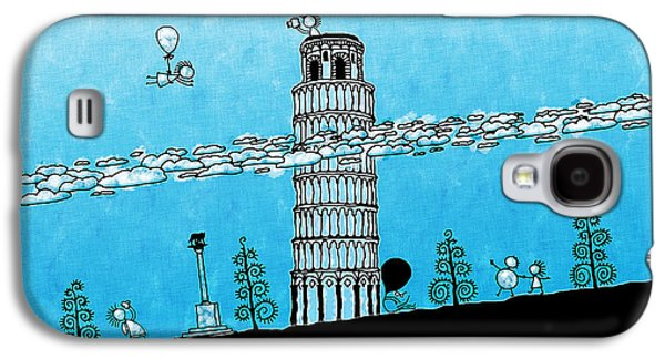 Animation Galaxy S4 Cases - Playful Tower of Pisa Galaxy S4 Case by Gianfranco Weiss