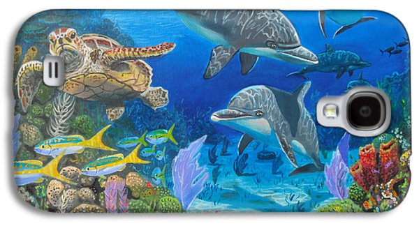 Sharks Paintings Galaxy S4 Cases - Playground Re004 Galaxy S4 Case by Carey Chen