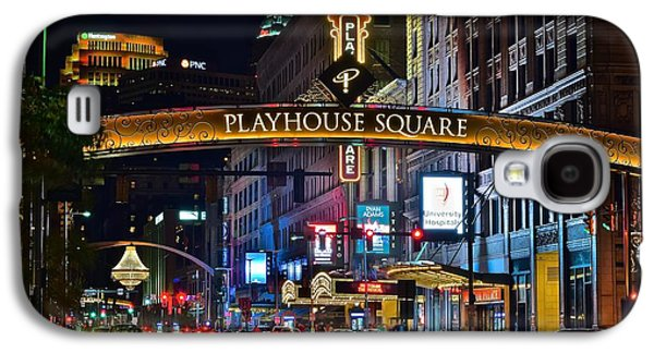 Terminal Photographs Galaxy S4 Cases - Playhouse Square Galaxy S4 Case by Frozen in Time Fine Art Photography