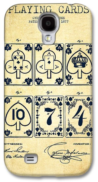 Playing Cards  Patent Drawing From 1877 - Vintage Galaxy S4 Case by Aged Pixel