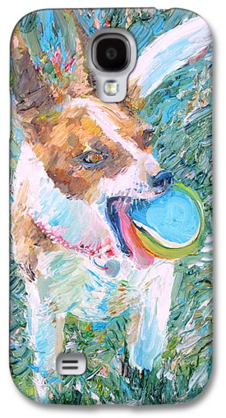 Dog Playing Ball Galaxy S4 Cases - Playing Is My Business...and The Business Is Good Galaxy S4 Case by Fabrizio Cassetta