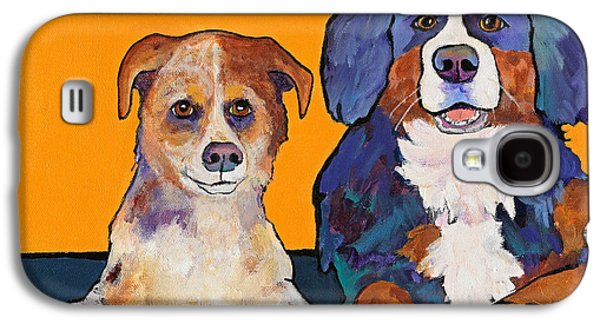 Cattle Dog Paintings Galaxy S4 Cases - Playmates Galaxy S4 Case by Pat Saunders-White