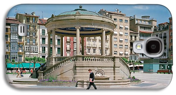 Man Looking Down Galaxy S4 Cases - Plaza Del Castillo, Pamplona, Spain Galaxy S4 Case by Panoramic Images