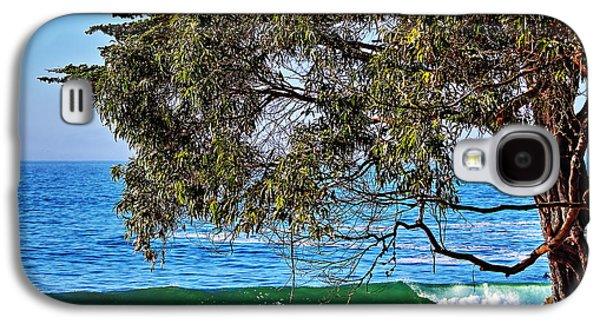 Surfing In Santa Cruz Galaxy S4 Cases - Pleasure Point Santa Cruz Galaxy S4 Case by Richard Cheski