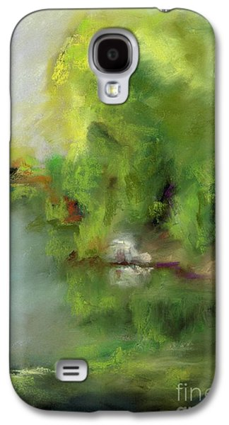 Abstract Landscape Pastels Galaxy S4 Cases - Plein Air At Golden Ponds Galaxy S4 Case by Frances Marino
