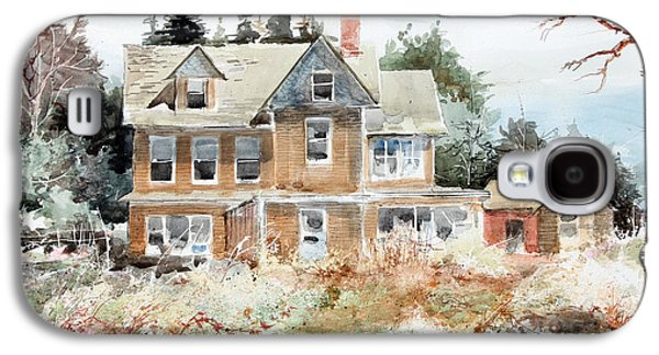 Old Maine Houses Galaxy S4 Cases - Plein Air At Southport Galaxy S4 Case by Monte Toon
